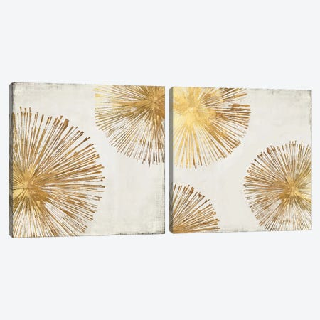 Gold Star Diptych Canvas Print Set #PIG2HSET001} by PI Galerie Canvas Art Print