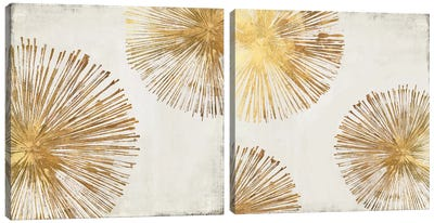 Gold Star Diptych Canvas Art Print