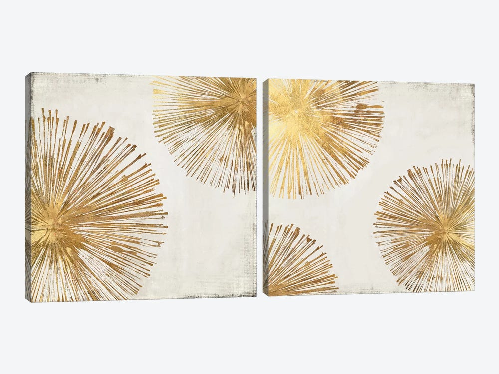 Gold Star Diptych by PI Galerie 2-piece Canvas Wall Art