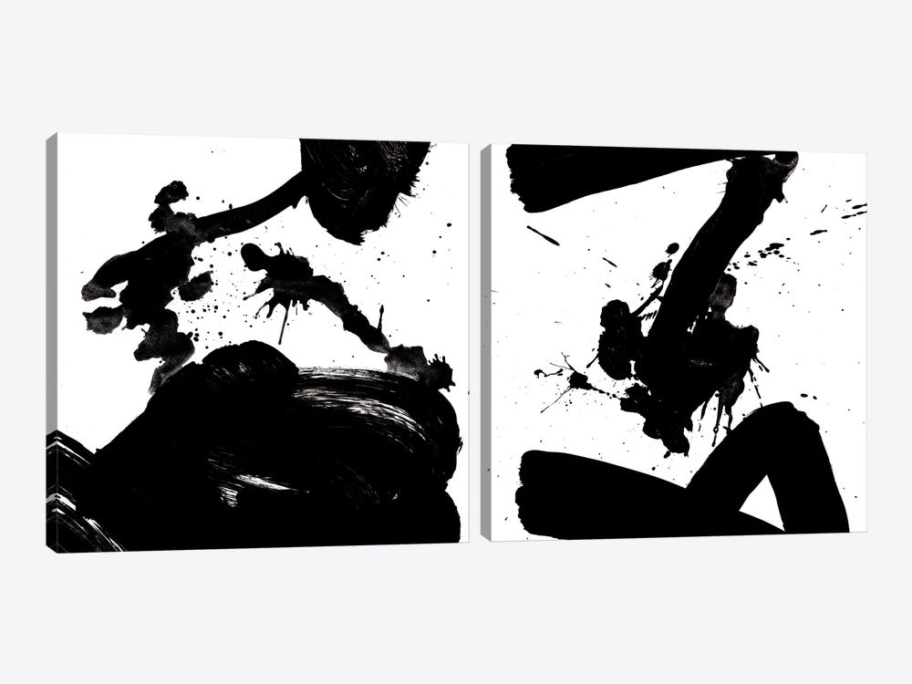 Ink Blot Diptych by PI Galerie 2-piece Canvas Art Print