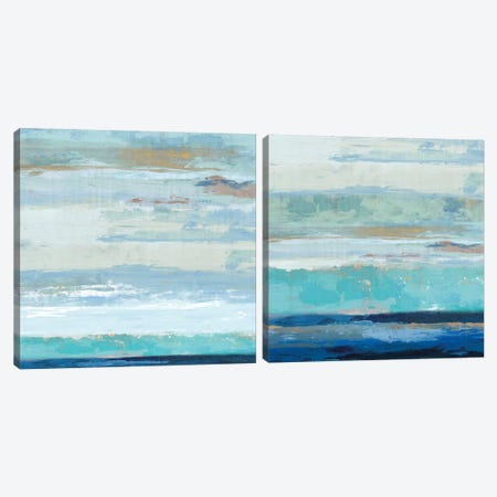 Sea Shore Diptych Canvas Print Set #PIG2HSET005} by PI Galerie Canvas Artwork