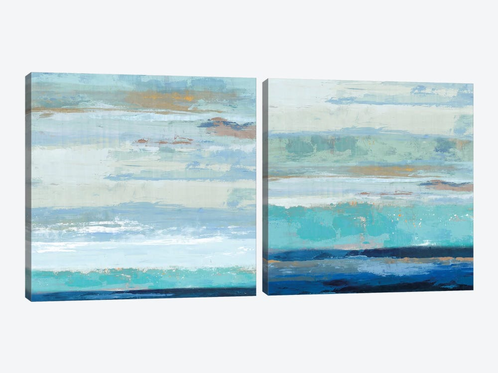Sea Shore Diptych by PI Galerie 2-piece Canvas Art