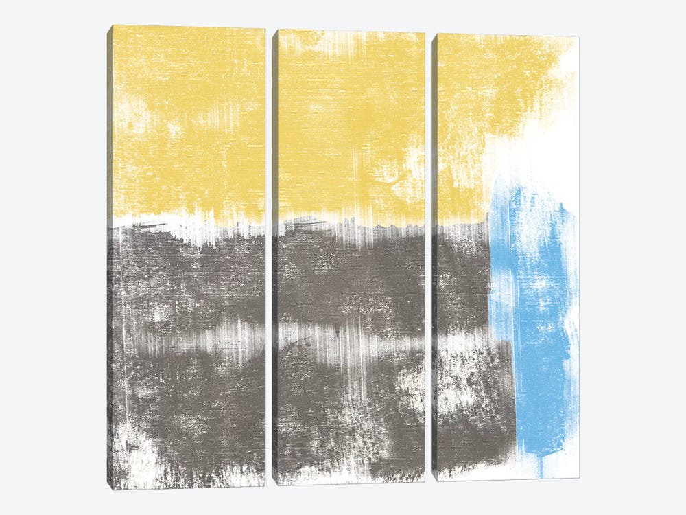 Yellow Geo by PI Galerie 3-piece Canvas Art