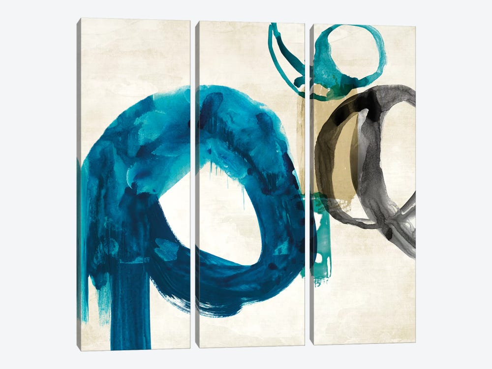 Blue Ring I by PI Galerie 3-piece Canvas Print