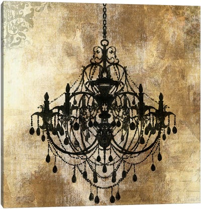 Chandelier Gold I Canvas Art Print