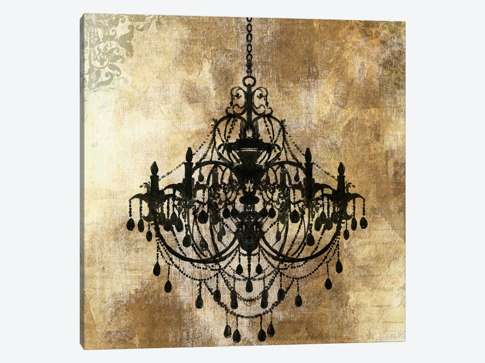 Chandelier Gold I by PI Galerie 1-piece Canvas Wall Art