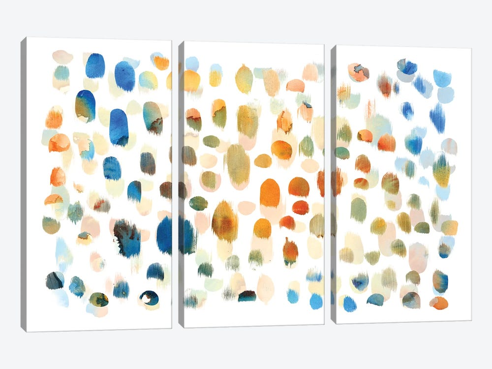Colour Dabs by PI Galerie 3-piece Canvas Art