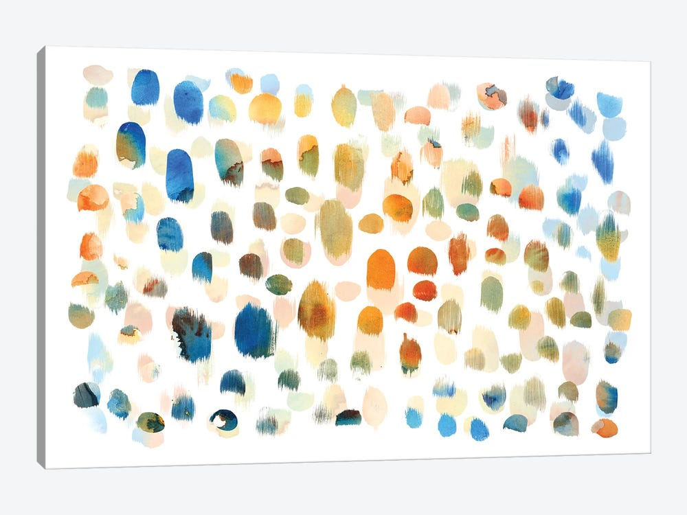 Colour Dabs by PI Galerie 1-piece Canvas Wall Art