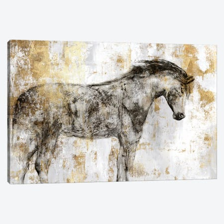 Equestrian Gold I Canvas Print #PIG64} by PI Galerie Canvas Print