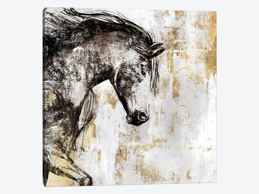 Equestrian Gold III by PI Galerie 1-piece Canvas Artwork