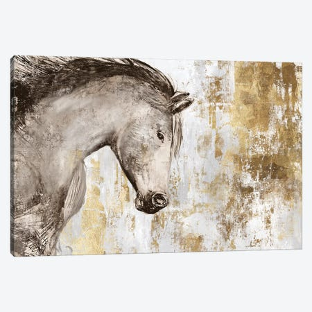 Equestrian Gold V Canvas Print #PIG68} by PI Galerie Canvas Wall Art