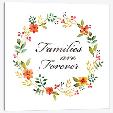 Families Are Forever Canvas Print #PIG73} by PI Galerie Canvas Art Print
