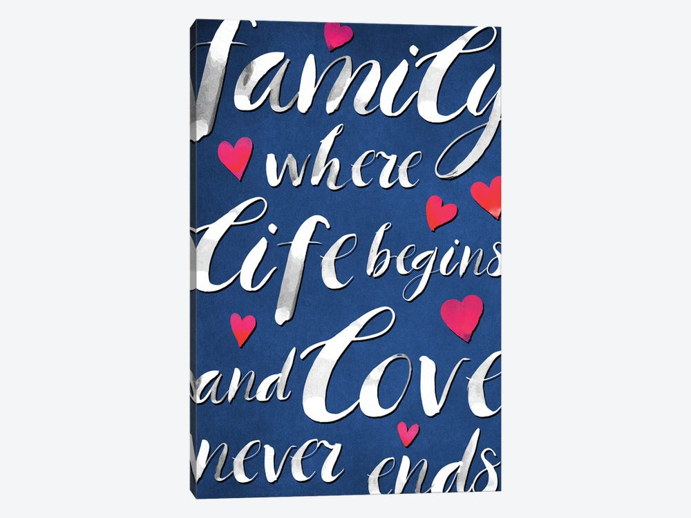 Family Love I by PI Galerie 1-piece Canvas Print