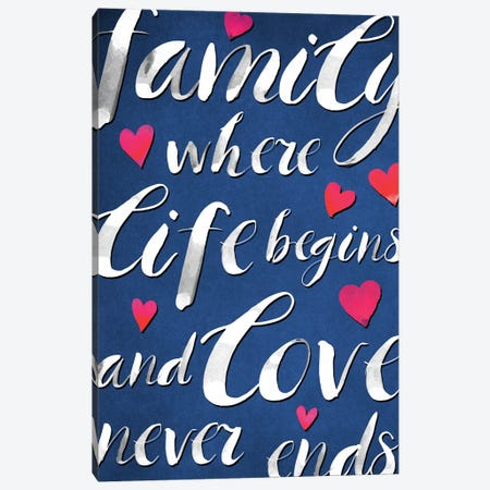 Family Love I Canvas Print #PIG74} by PI Galerie Canvas Wall Art