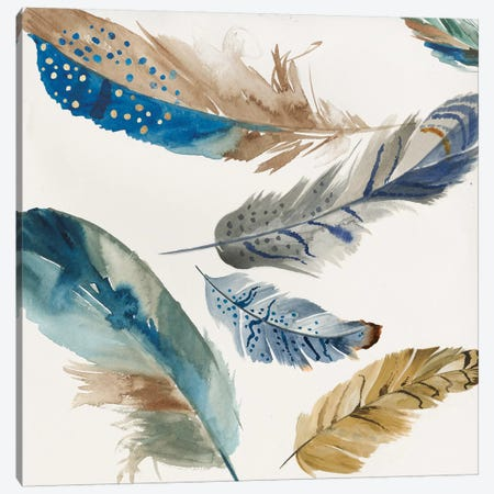 Feather Weather II Canvas Print #PIG77} by PI Galerie Canvas Artwork