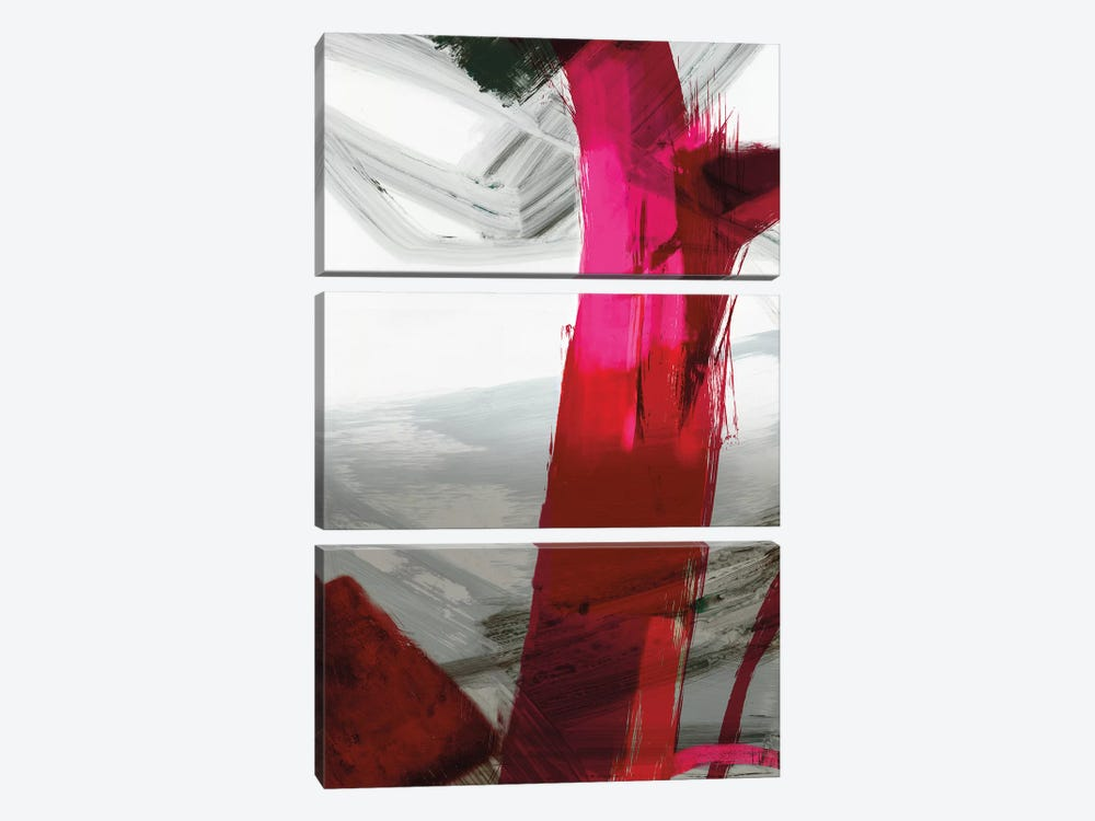 Fuschia I by PI Galerie 3-piece Canvas Art