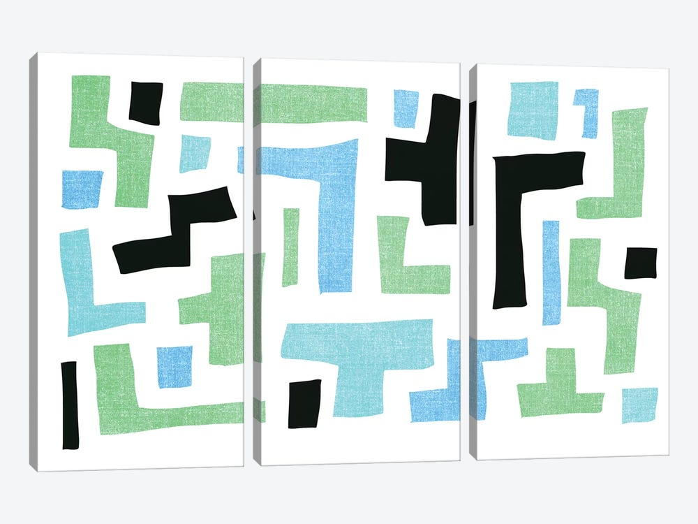Geo I by PI Galerie 3-piece Canvas Print
