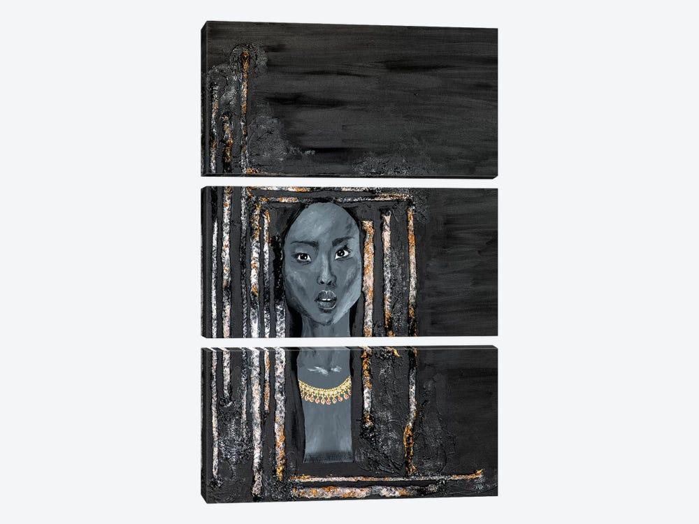 Lady Omen by Piia Pievilainen 3-piece Canvas Artwork