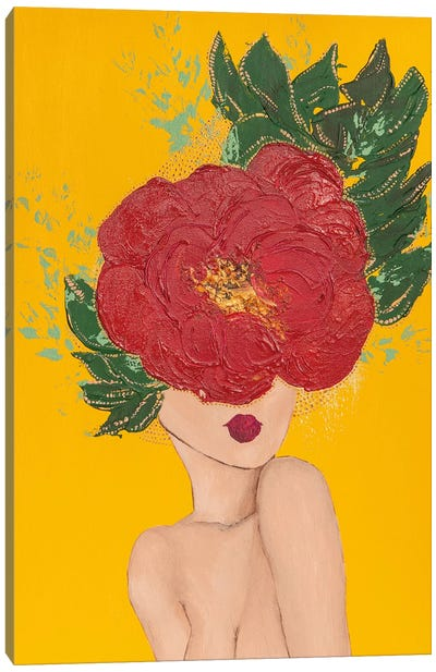 Lady Poppy Canvas Art Print