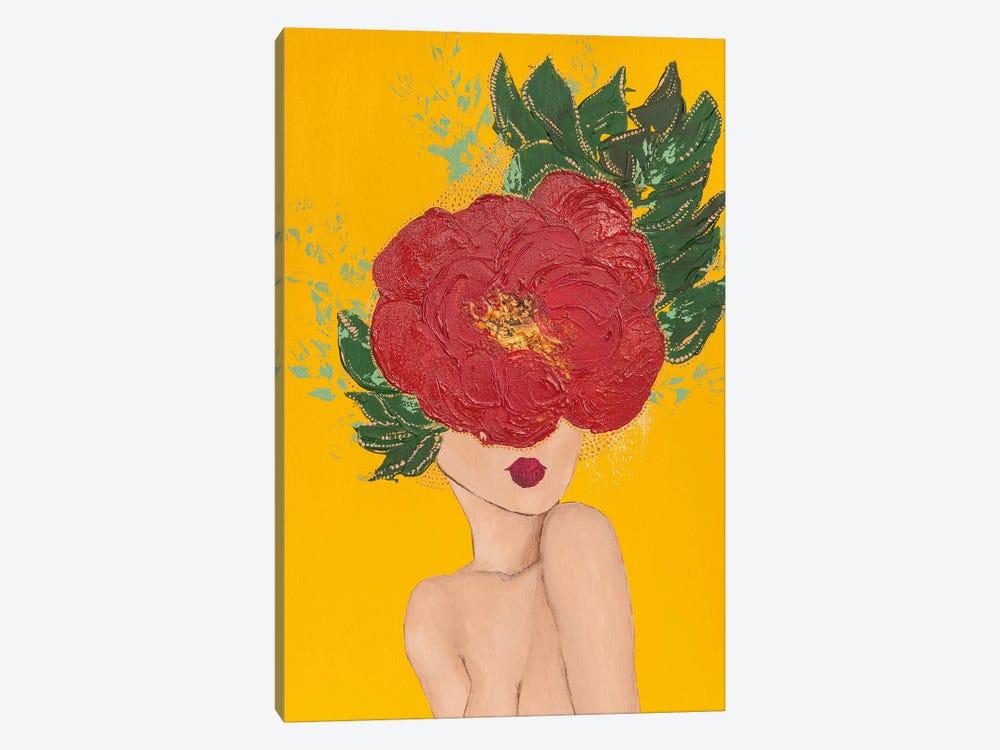 Lady Poppy by Piia Pievilainen 1-piece Canvas Print