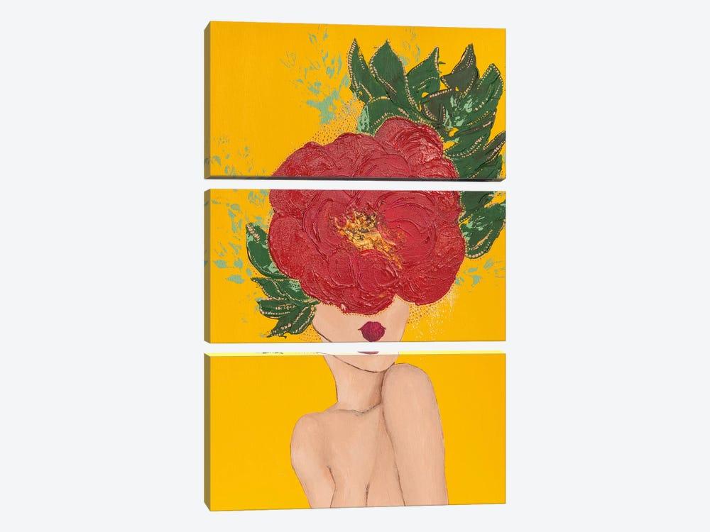 Lady Poppy by Piia Pievilainen 3-piece Canvas Print