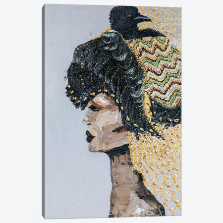 Lady Raven Canvas Print #PII12} by Piia Pievilainen Canvas Print