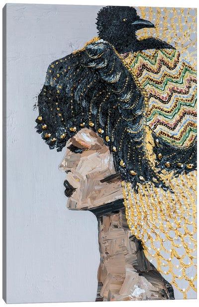 Lady Raven Canvas Art Print