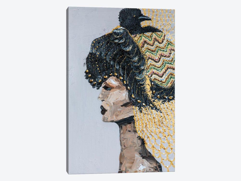 Lady Raven by Piia Pievilainen 1-piece Canvas Artwork
