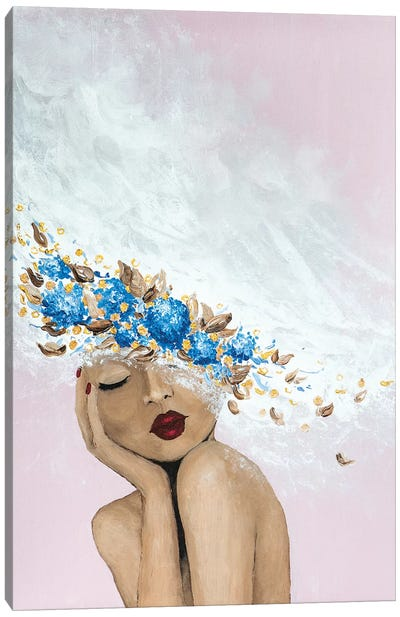 Lady Something Blue Canvas Art Print