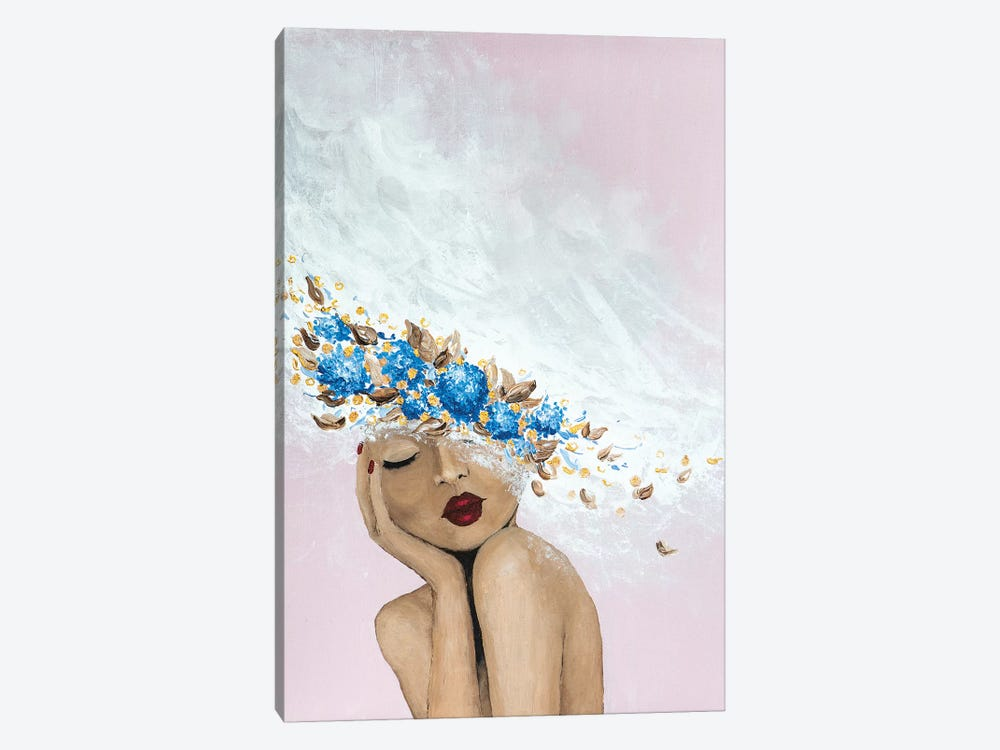 Lady Something Blue by Piia Pievilainen 1-piece Canvas Artwork