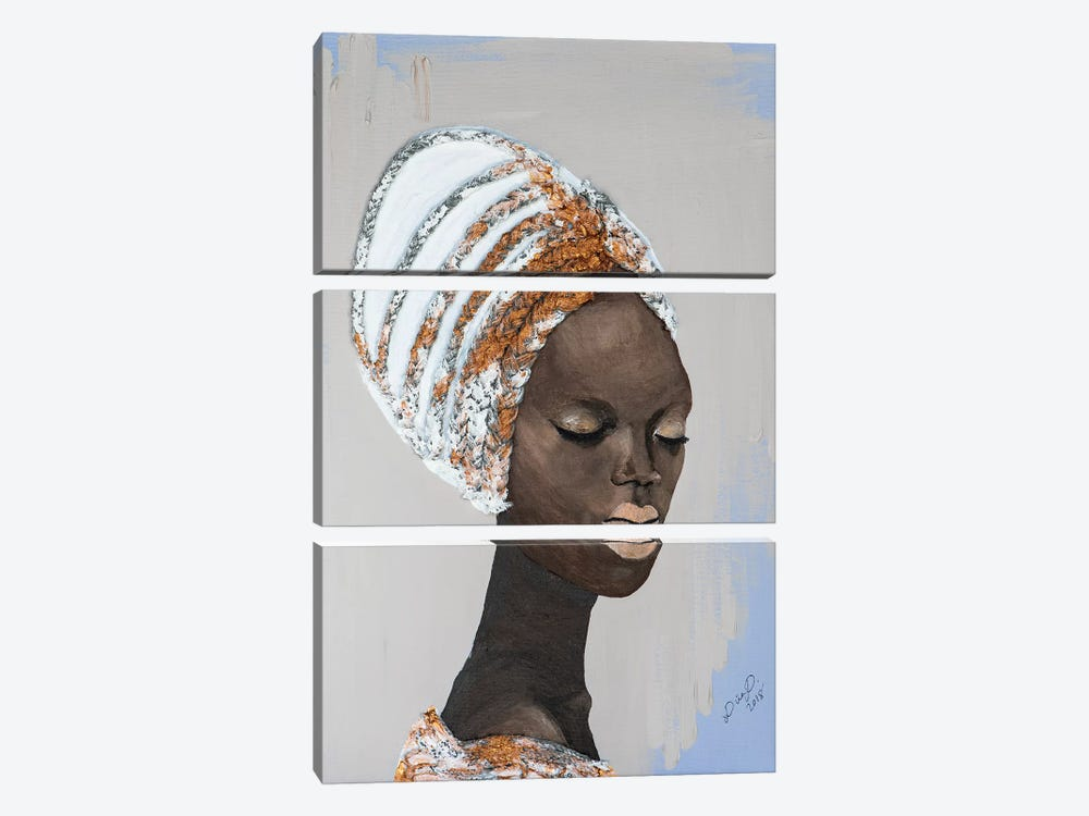 Lady Wonder by Piia Pievilainen 3-piece Canvas Print