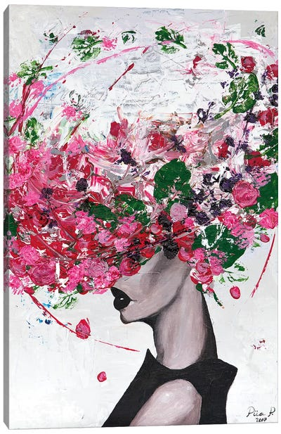 Lady Bloom Canvas Art Print