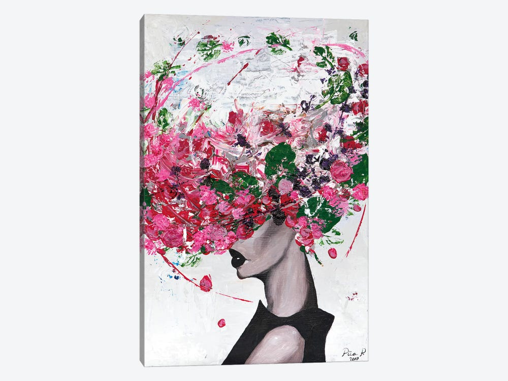 Lady Bloom by Piia Pievilainen 1-piece Canvas Artwork