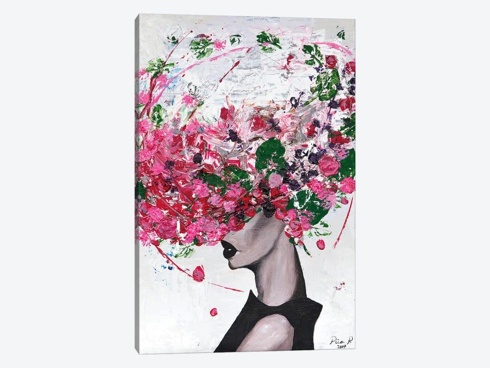 Lady Bloom by Piia Pievilainen 1-piece Canvas Artwork