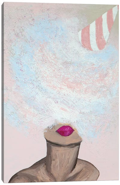 Lady Cotton Candy Canvas Art Print