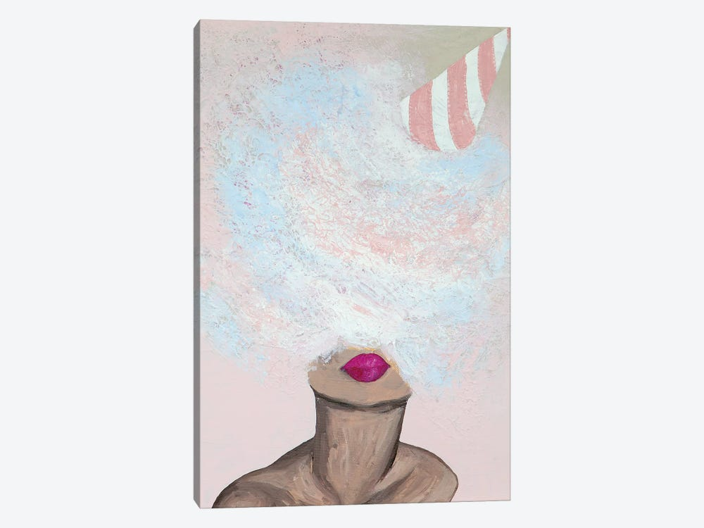 Lady Cotton Candy by Piia Pievilainen 1-piece Canvas Art