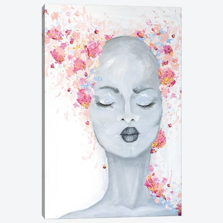 Lady Bold and Beautiful Canvas Print #PII1} by Piia Pievilainen Canvas Artwork
