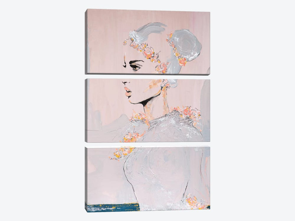 Lady Highness by Piia Pievilainen 3-piece Canvas Art