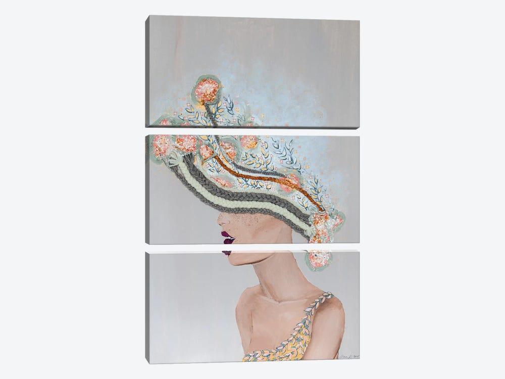 Lady Martha by Piia Pievilainen 3-piece Canvas Art Print