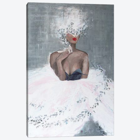 Lady Mistletoe Canvas Print #PII25} by Piia Pievilainen Canvas Art Print