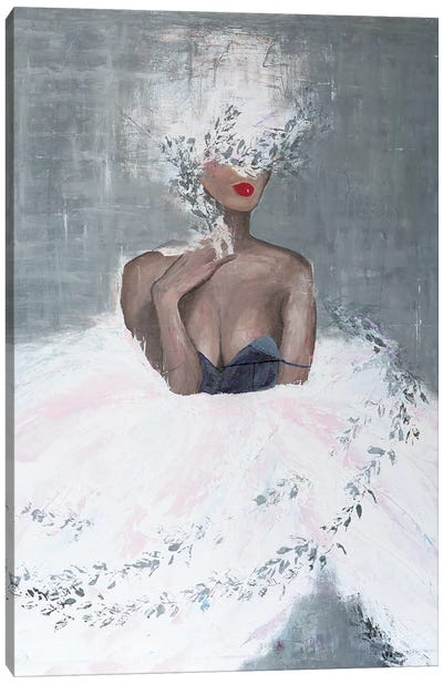 Lady Mistletoe Canvas Art Print