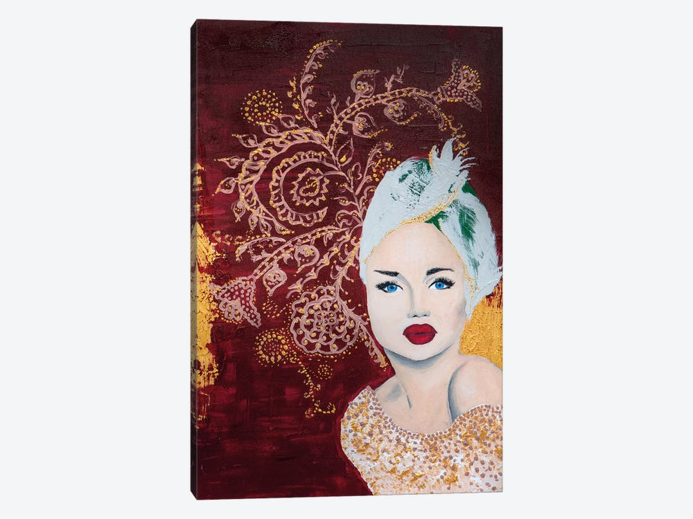 Lady Mystic by Piia Pievilainen 1-piece Canvas Wall Art