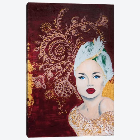 Lady Mystic 3-Piece Canvas #PII27} by Piia Pievilainen Canvas Print