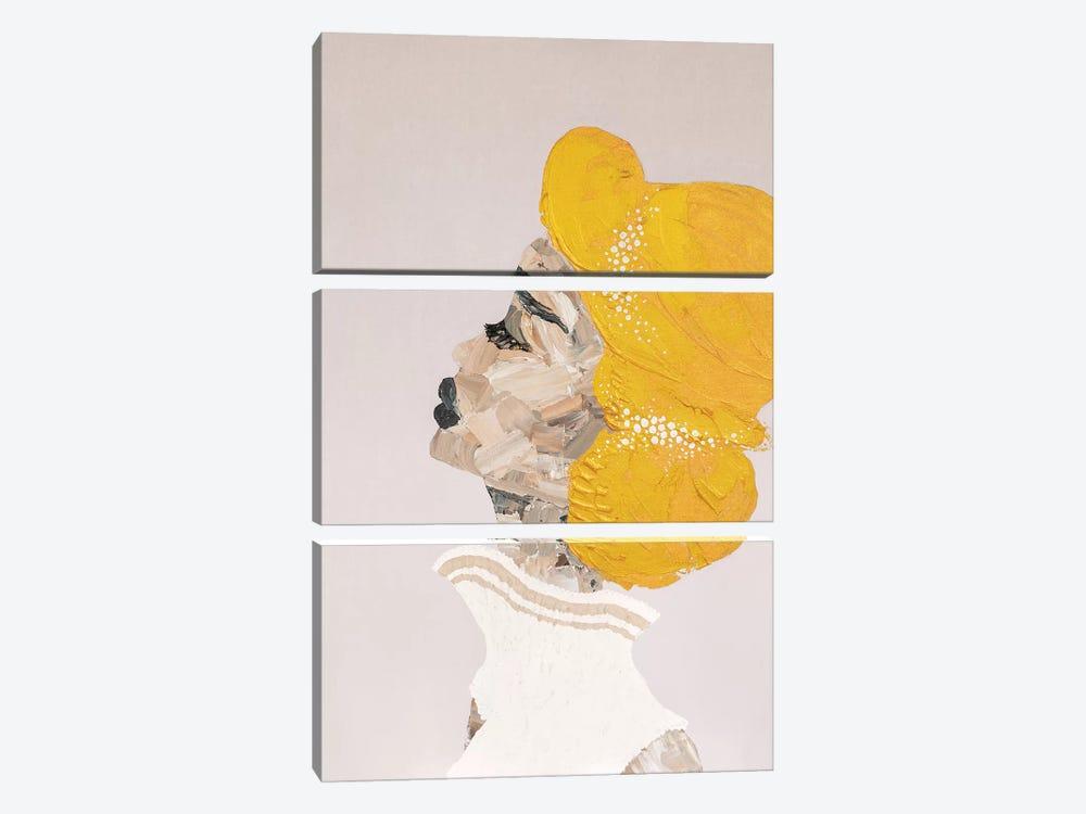 Lady Sophisticate by Piia Pievilainen 3-piece Canvas Art Print
