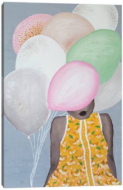 Lady Sweet Balloon Canvas Art Print