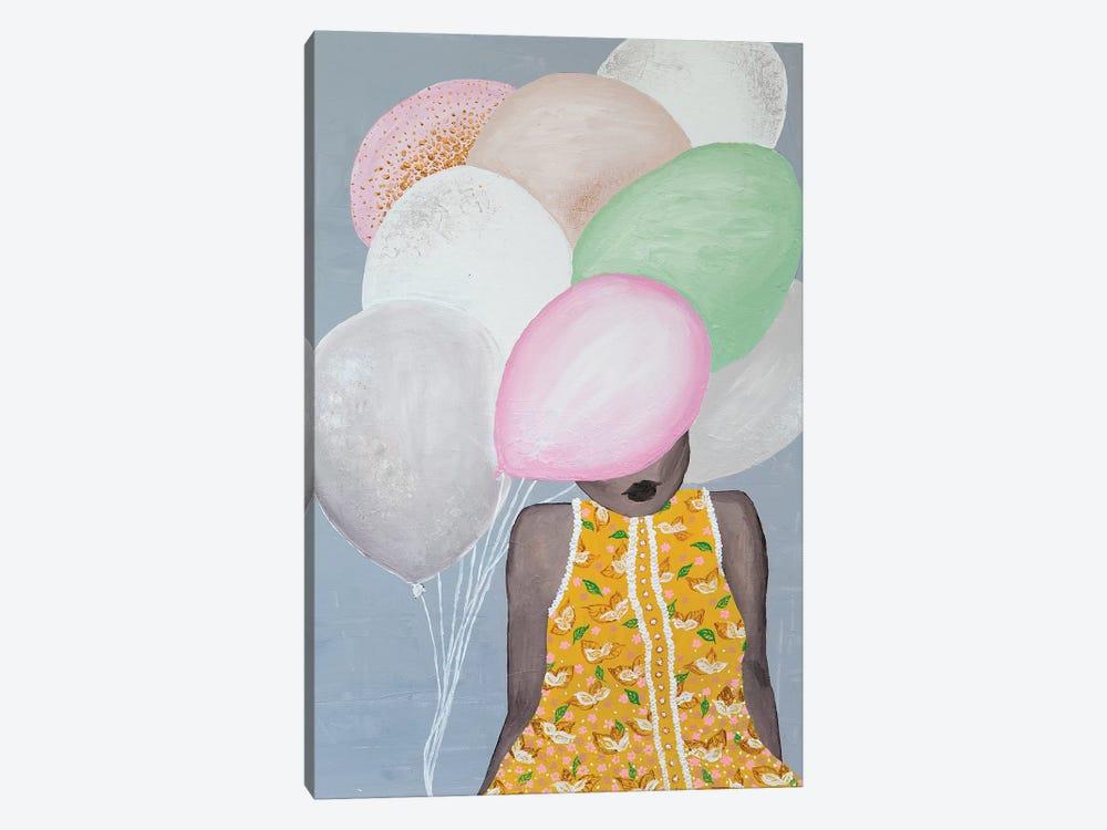 Lady Sweet Balloon by Piia Pievilainen 1-piece Canvas Wall Art