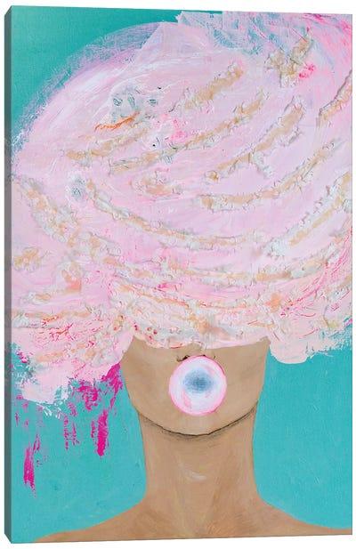 Lady Bubblelicious Canvas Art Print