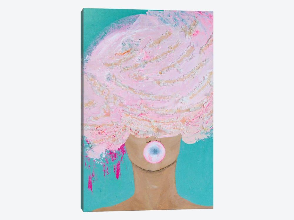 Lady Bubblelicious by Piia Pievilainen 1-piece Canvas Art