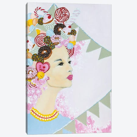 Lady Sweet Overdose Canvas Print #PII34} by Piia Pievilainen Canvas Art
