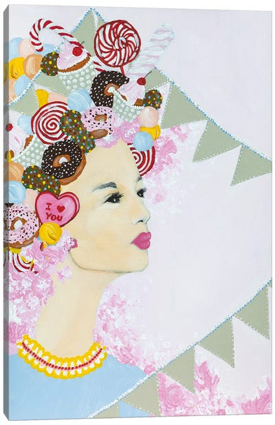 Lady Sweet Overdose Canvas Art Print